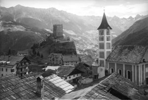 Landeck, in the Upper Inn Valley, around 1915. Bildarchiv Austria – ÖNB: 69.630 B